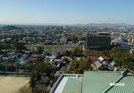 県庁展望階より、西堀端.jpg