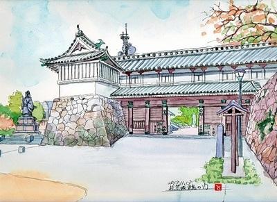 鯱の門 水彩画.jpg